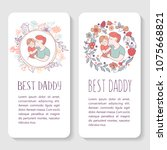 best dad. fathers day. vector...   Shutterstock .eps vector #1075668821