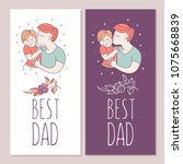 best dad. fathers day. vector... | Shutterstock .eps vector #1075668839
