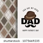 happy fathers day greeting card ... | Shutterstock .eps vector #1075669235