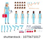 female doctor  nurse creation... | Shutterstock .eps vector #1075671017