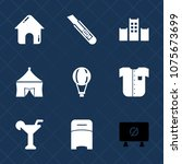 premium set with fill icons.... | Shutterstock .eps vector #1075673699