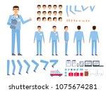 doctor  male nurse creation kit.... | Shutterstock .eps vector #1075674281