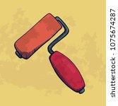 brush roll for construction....   Shutterstock .eps vector #1075674287
