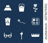 premium set with fill icons.... | Shutterstock .eps vector #1075674551