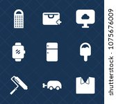 premium set with fill icons.... | Shutterstock .eps vector #1075676009