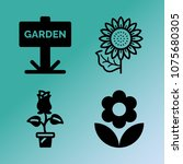 vector icon set about gardening ... | Shutterstock .eps vector #1075680305