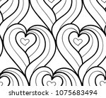 abstract vector seamless floral ... | Shutterstock .eps vector #1075683494