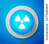 white radioactive icon isolated ... | Shutterstock .eps vector #1075686869