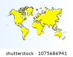 map of world  halftone abstract ... | Shutterstock .eps vector #1075686941