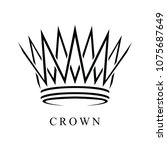 crown logo abstract design... | Shutterstock .eps vector #1075687649