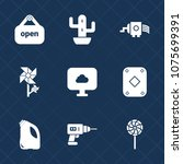 premium set with fill icons.... | Shutterstock .eps vector #1075699391
