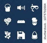 premium set with fill icons.... | Shutterstock .eps vector #1075702004