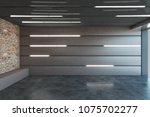 contemporary metal garage... | Shutterstock . vector #1075702277