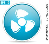 fan blue glossy round vector... | Shutterstock .eps vector #1075706201