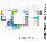 abstract square cubes... | Shutterstock .eps vector #1075707017