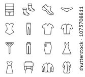 flat vector icon set   wardrobe ... | Shutterstock .eps vector #1075708811