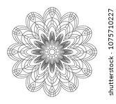 easy mandalas  coloring page... | Shutterstock . vector #1075710227