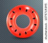 swim ring. inflatable rubber...   Shutterstock .eps vector #1075719395