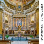 main altar in the church of the ... | Shutterstock . vector #1075723385