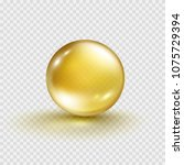 oil gold bubble isolated on... | Shutterstock .eps vector #1075729394