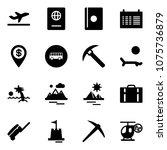 solid vector icon set  ... | Shutterstock .eps vector #1075736879