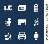 premium set with fill icons.... | Shutterstock .eps vector #1075741505