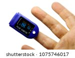 a pulse oximeter used to...   Shutterstock . vector #1075746017