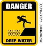 danger  deep water  sign   Shutterstock .eps vector #1075746935