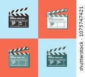 set of simple clapper board... | Shutterstock .eps vector #1075747421