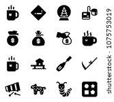 solid vector icon set   tea...