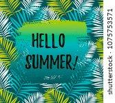 hello summer banner. place for... | Shutterstock .eps vector #1075753571