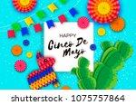 happy cinco de mayo greeting... | Shutterstock .eps vector #1075757864