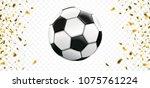 football banner with golden... | Shutterstock .eps vector #1075761224