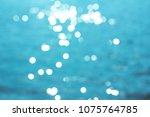 seawater in sunlight. the photo ...   Shutterstock . vector #1075764785