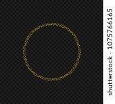 golden magic sparkles circle...   Shutterstock . vector #1075766165