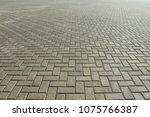 the road from the cobblestones... | Shutterstock . vector #1075766387