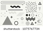 set of memphis design element... | Shutterstock .eps vector #1075767734