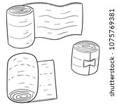 vector set of medical bandage | Shutterstock .eps vector #1075769381