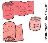 vector set of medical bandage | Shutterstock .eps vector #1075769384