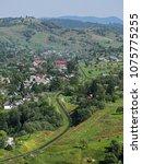 carpatian mountains train... | Shutterstock . vector #1075775255