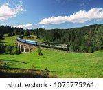 carpatian mountains train... | Shutterstock . vector #1075775261