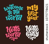 vector kids illustration of... | Shutterstock .eps vector #1075778621