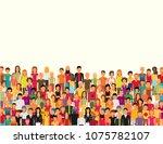 flat illustration of society... | Shutterstock .eps vector #1075782107