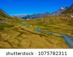 small alpine creek and a... | Shutterstock . vector #1075782311