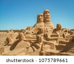 Temporary Sand Sculpture On A...