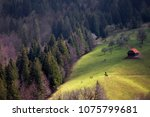 springtime landscape in... | Shutterstock . vector #1075799681