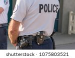 french police close up ... | Shutterstock . vector #1075803521