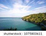 beach view seascape at ... | Shutterstock . vector #1075803611