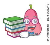 student with book rose apple... | Shutterstock .eps vector #1075805249
