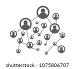 people network and social icon... | Shutterstock .eps vector #1075806707